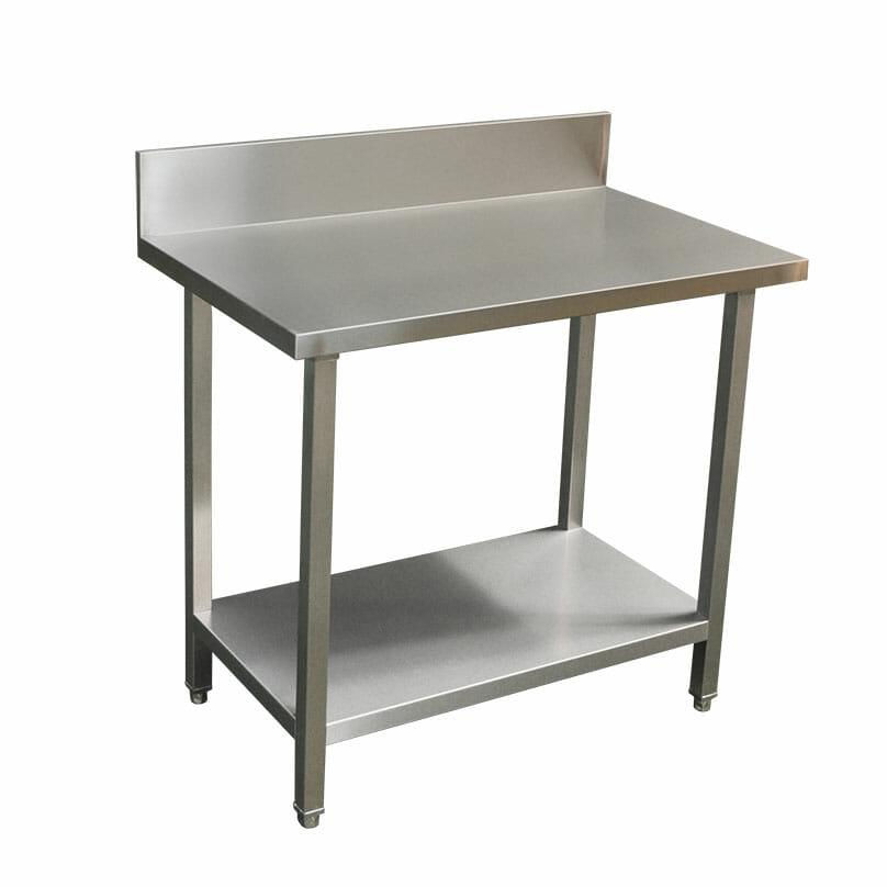 Commercial Grade Stainless Steel Splashback Bench, Premium Range 1000 X 610 x 900mm high