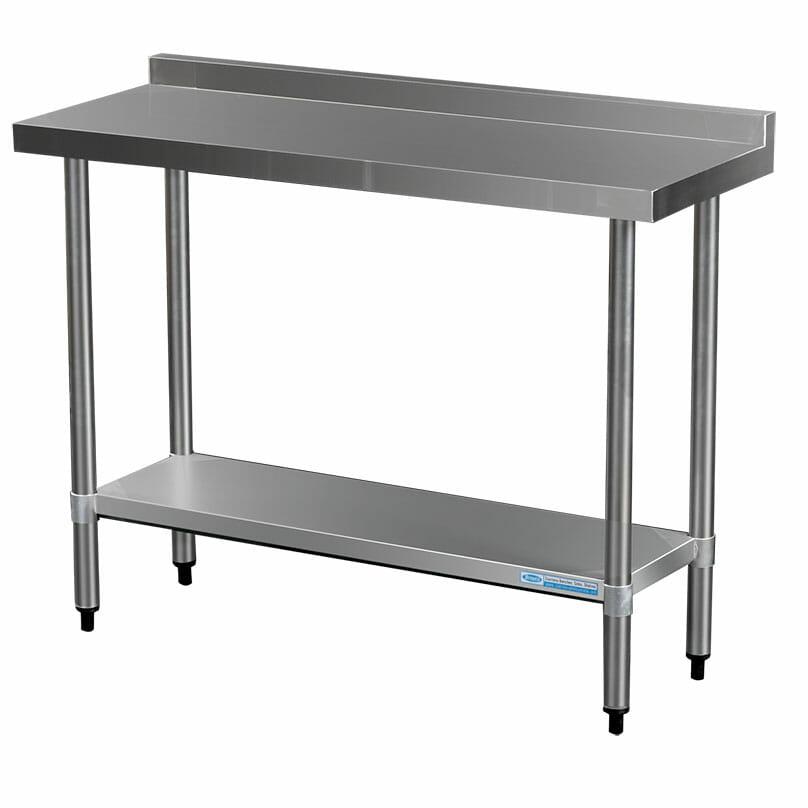 Commercial Grade Stainless Steel Narrow Splashback Bench, 1200 X 450 x 900mm high