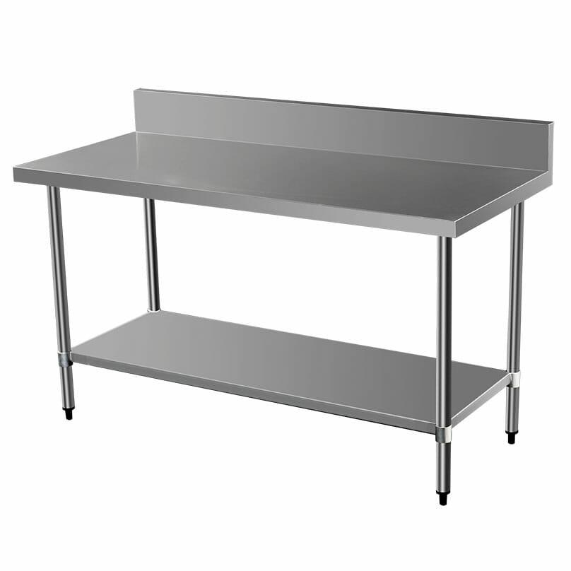 Commercial Grade Stainless Steel Splashback Bench, 1600 X 700 x 900mm high