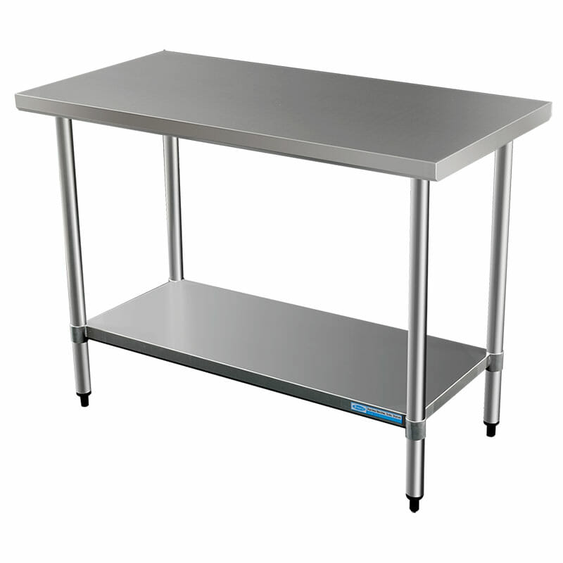 Commercial Grade Stainless Steel Flat Bench, 914 x 610 x 900mm high