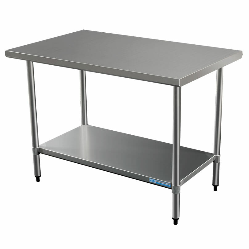 Commercial Grade Stainless Steel Flat Bench, 914 x 762 x 900mm high