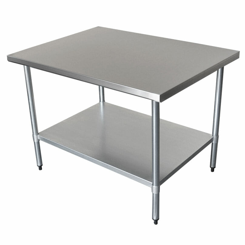 Commercial Grade Stainless Steel Wide Bench, 1219 x 914 x 900mm high