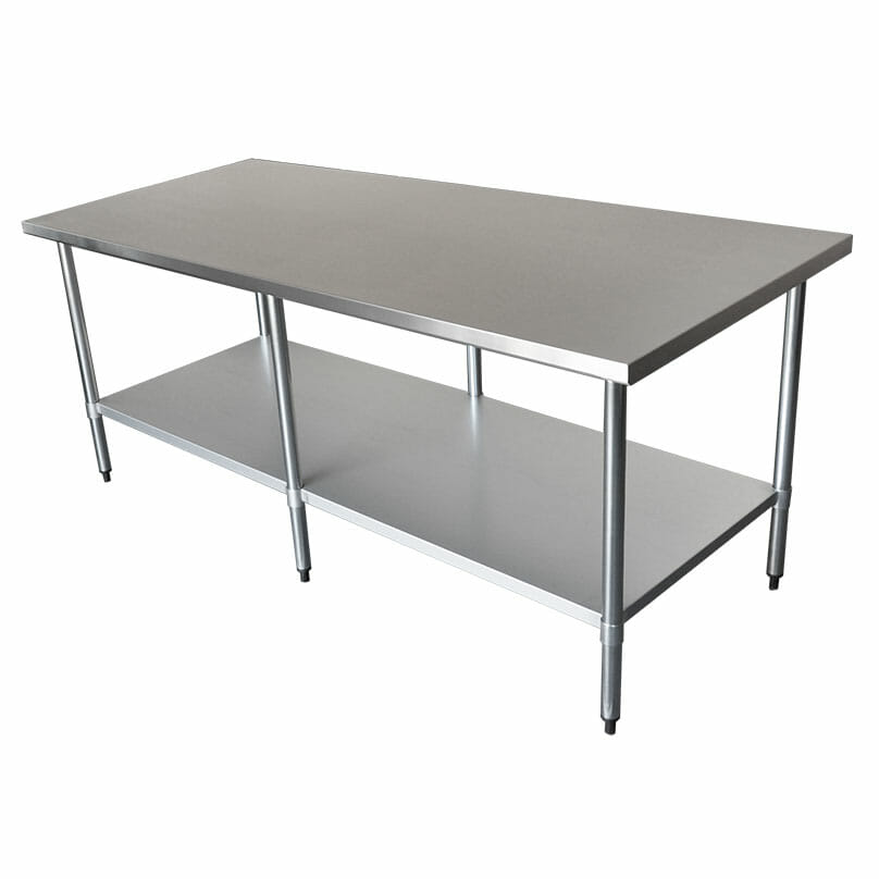Commercial Grade Stainless Steel Wide Bench, 2134 x 914 x 900mm high