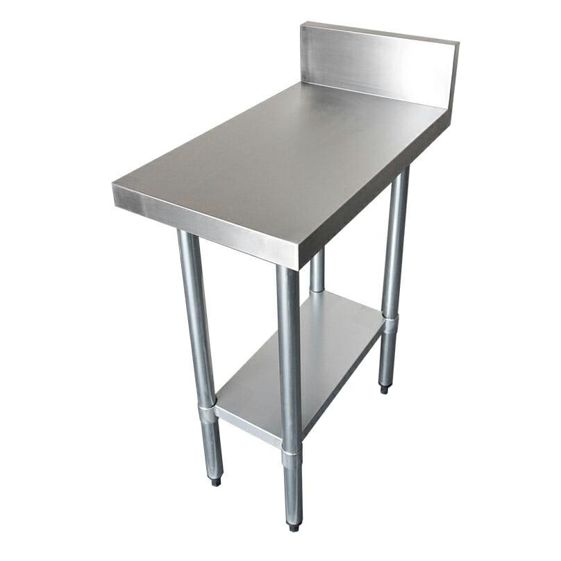 Commercial Grade Stainless Steel Splashback Bench, 400 X 700 x 900mm high