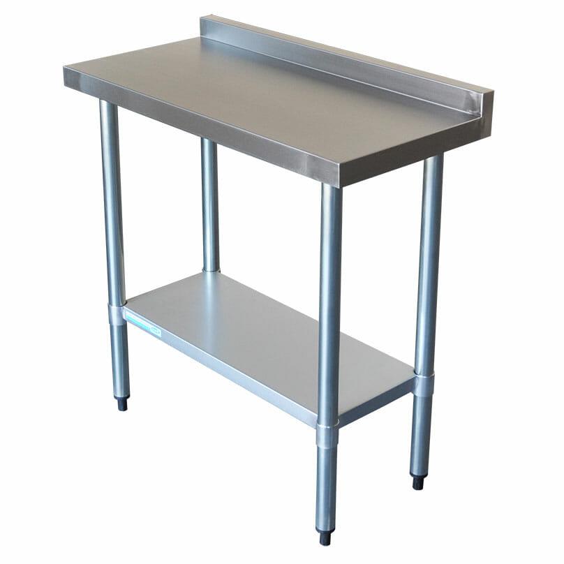 Commercial Grade Stainless Steel Narrow Splashback Bench, 800 X 450 x 900mm high