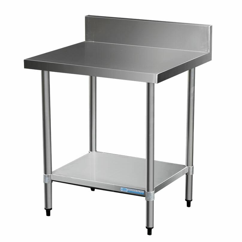 Commercial Grade Stainless Steel Splashback Bench, 800 X 700 x 900mm high