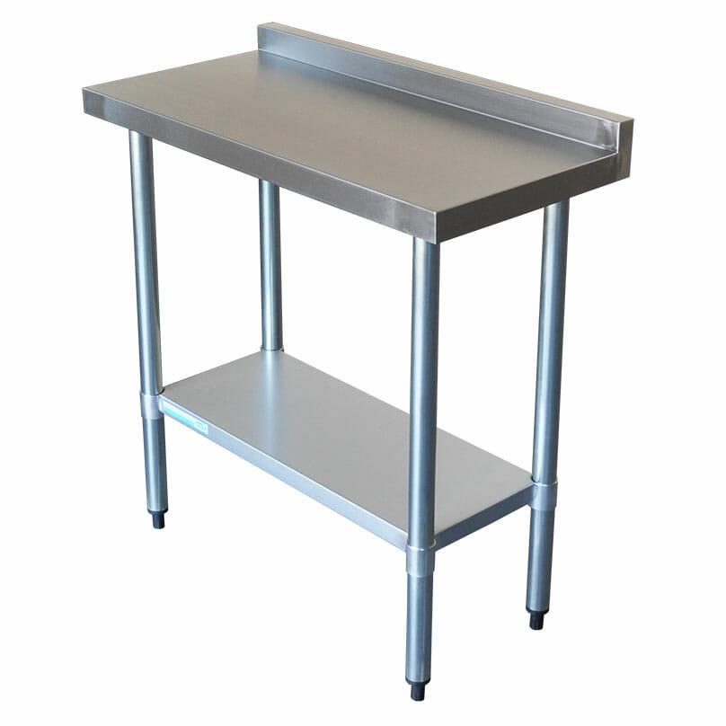 Commercial Grade Stainless Steel Narrow Splashback Bench, 900 X 450 x 900mm high