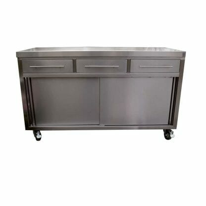 Stainless Cabinets - Restaurant Cabinets, 1500 x 610 x 900mm high.