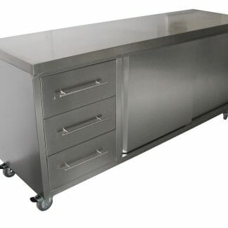 Stainless Steel Commercial Kitchen Cabinet, 2000 x 610 x 900mm high.