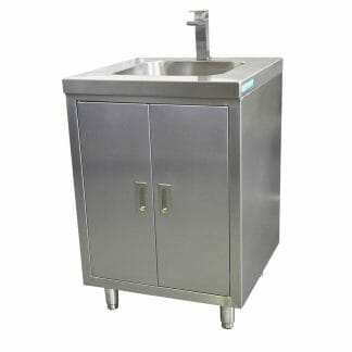 Stainless Steel Cabinet with fully integrated sink, 610 x 610 x 900mm high.
