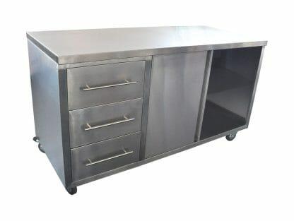Coffee Cart – coffee machine ready, 1600 x 700 x 900mm.
