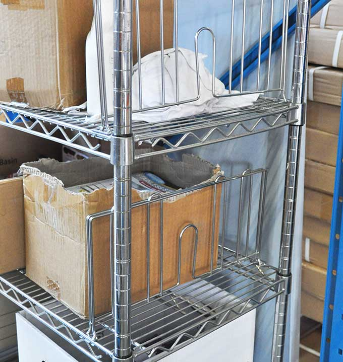 Chrome Wire Shelving Divider, 457mm long