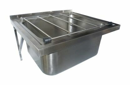 Stainless Steel Commercial Kitchen Wall Mounted Mop Sink.