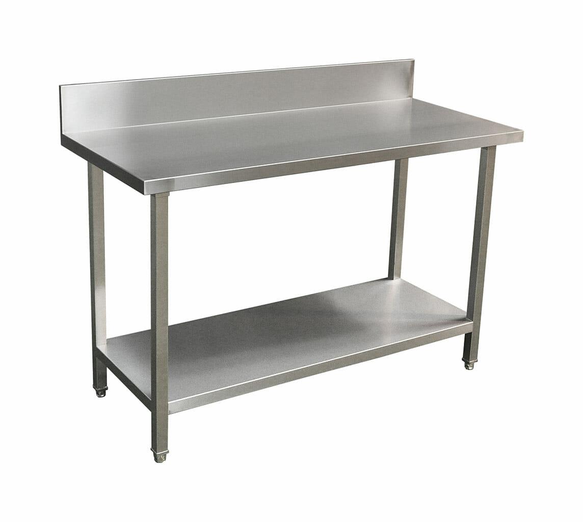 Commercial Grade Stainless Steel Splashback Bench, Premium Range 1400 X 610 X 900mm high