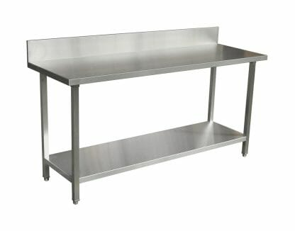 Premium Stainless Commercial Kitchen Bench with Splashback (1800 X 610)-0