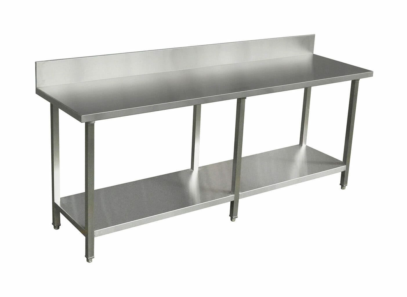 Premium Stainless Restaurant Kitchen Bench with Splashback (2200 X 610)-0