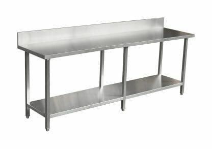 Premium Range Stainless Catering Bench with Splashback (2400 X 610)-0