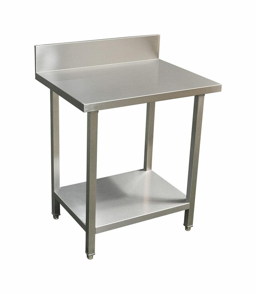 Commercial Grade Stainless Steel Splashback Bench, Premium Range 800 X 610 X 900mm high