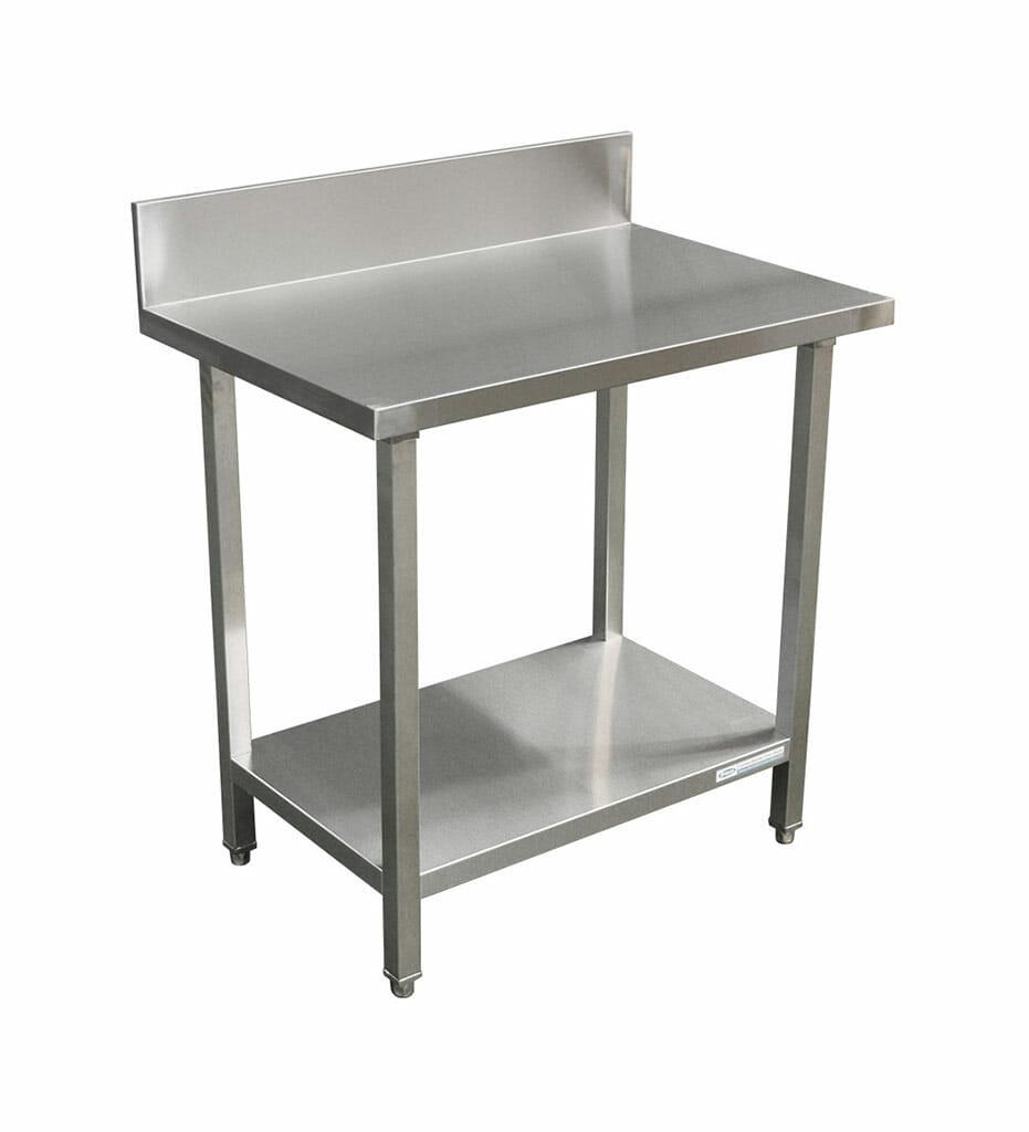 Commercial Grade Stainless Steel Splashback Bench, Premium Range 900 X 610 X 900mm high