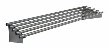 Stainless Commercial Kitchen Pipe Wall Shelf, 1200 X 300mm deep-0