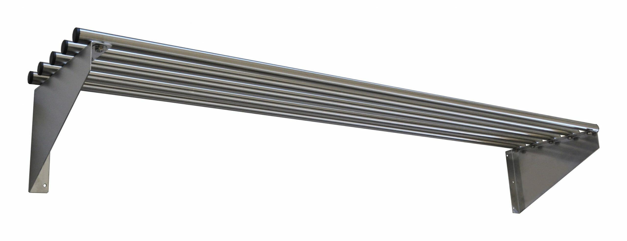Stainless Steel Pipe Wall Shelf, 1500 X 300mm deep