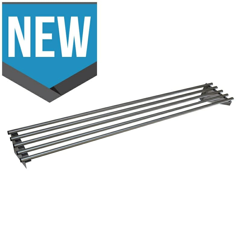 Stainless Steel Pipe Wall Shelf, 1800 X 450mm deep