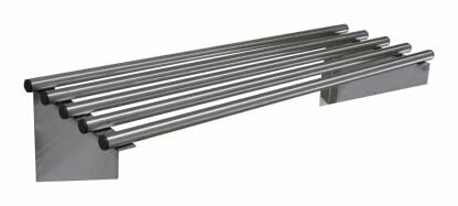 Stainless Steel Commercial Kitchen Pipe Wall Shelves, 900 X 300mm deep-0