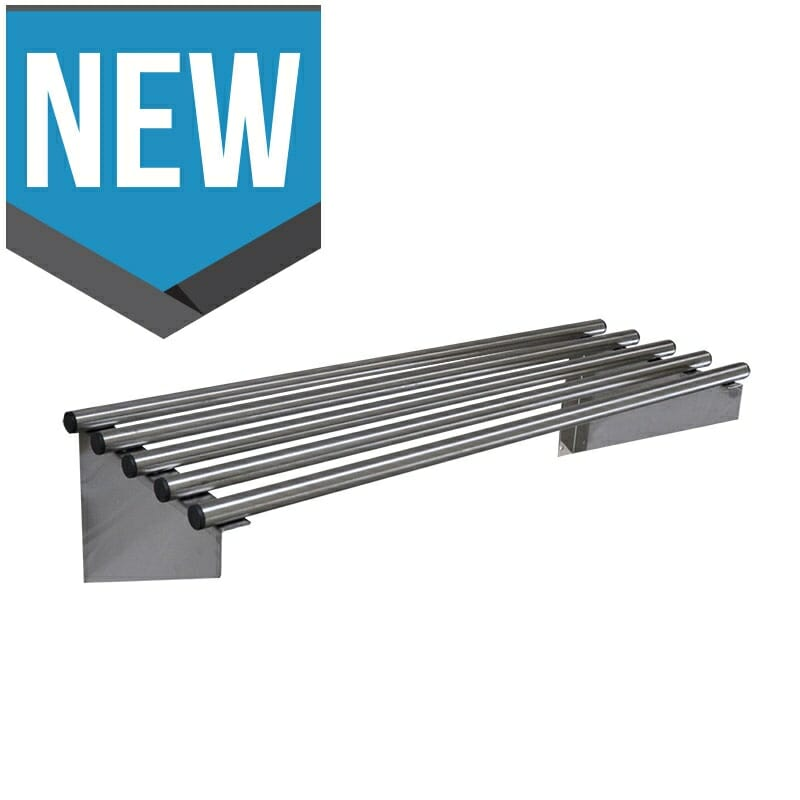 Stainless Steel Pipe Wall Shelf, 900 X 450mm deep