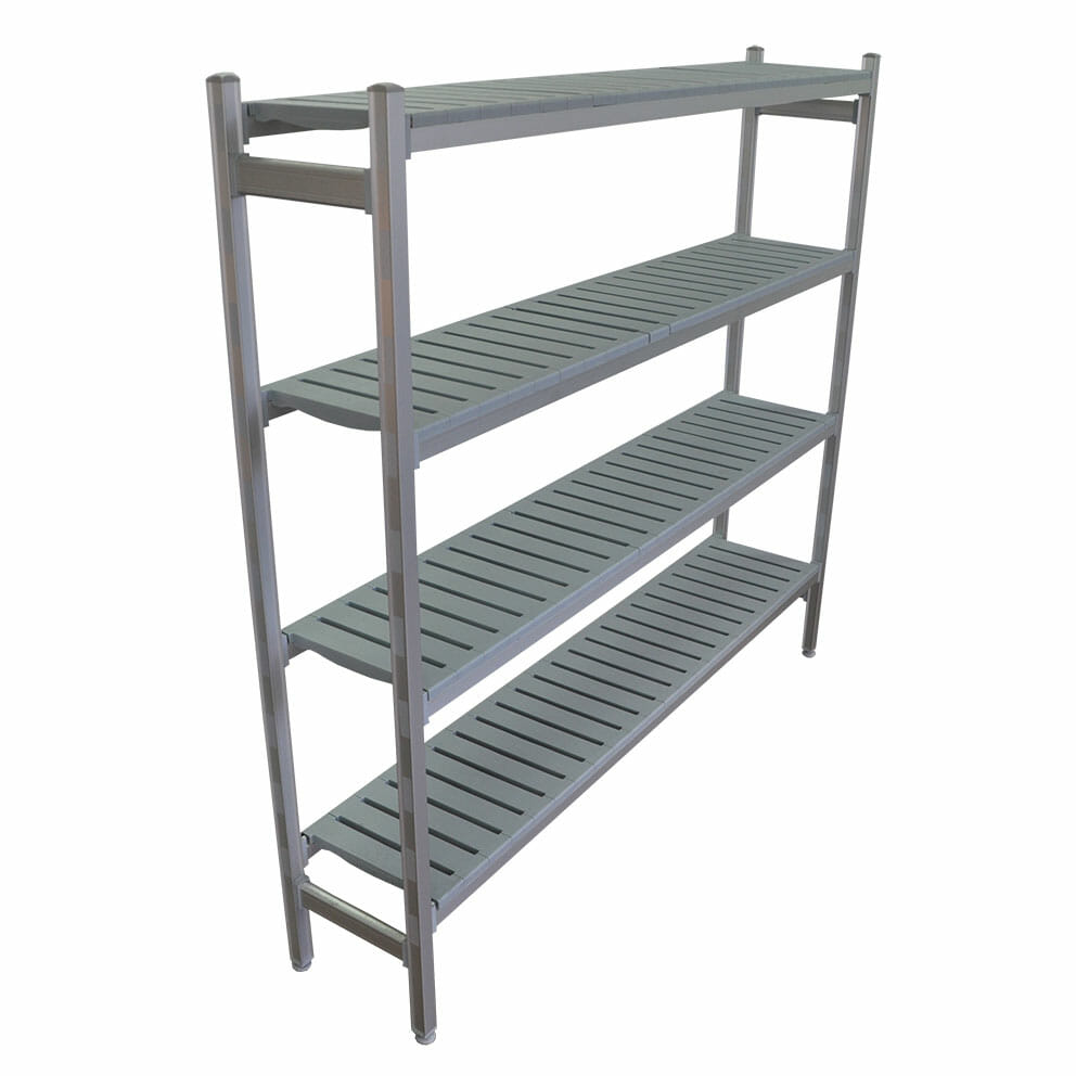Complete Bay for 1075 x 355 deep x 2450mm high Premium Coolroom Shelving