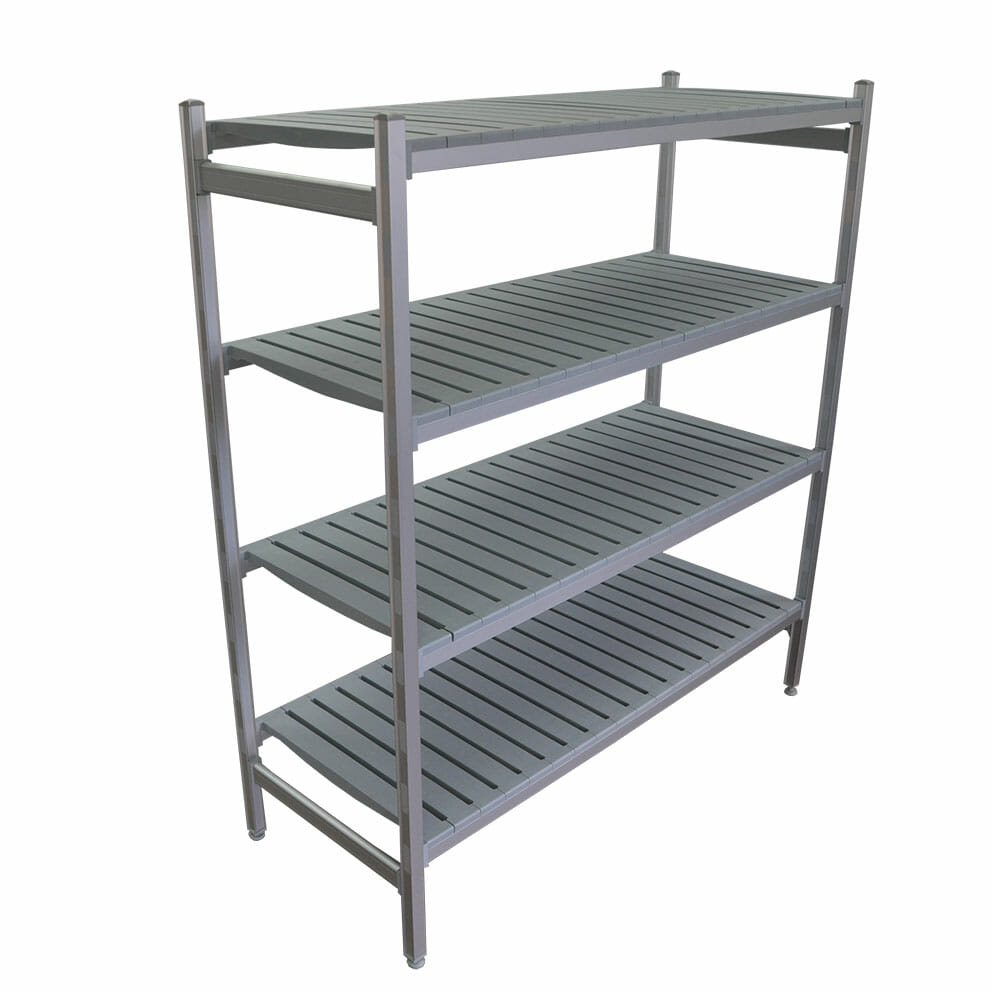 Complete Bay for 1075 x 610 deep x 2450mm high Premium Coolroom Shelving