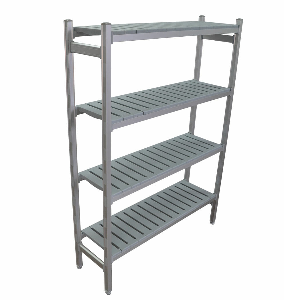 Complete Bay for 1225 x 355 deep x 2000mm high Premium Coolroom Shelving