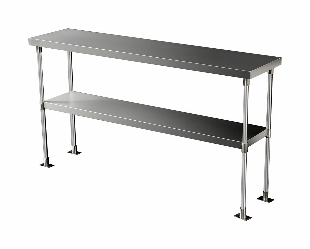 Stainless Steel Over Bench Shelf 2-Tier, 1450 X 350mm