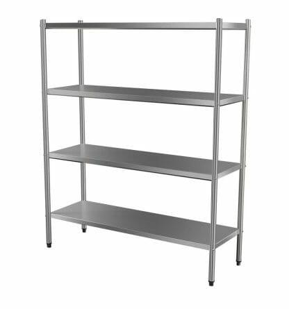 4-Tier Stainless Shelf, 1500 x 510 x 1800mm high-0
