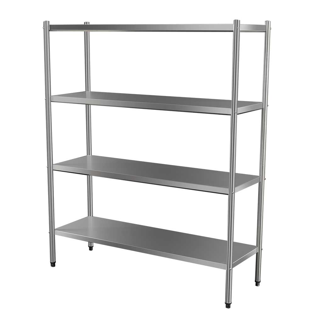 4-Tier Stainless Commercial Kitchen Shelf, 1500 x 510 x 1800mm high