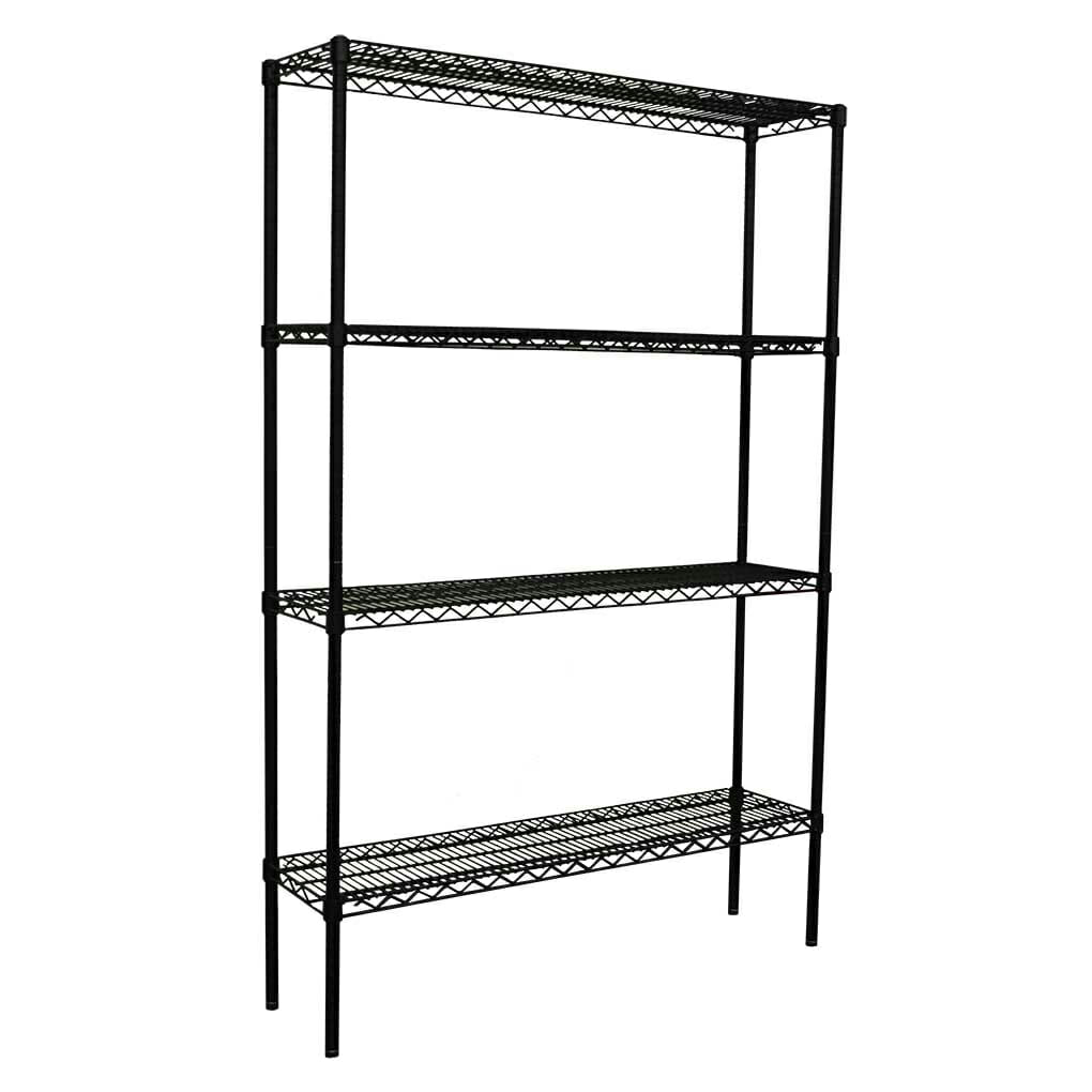Epoxy Wire Shelving For Coolroom/Dry Store, 4 Tier, 1219 x 305 deep x 1800mm high