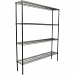 Epoxy Wire Coolroom Shelf 4 Tier, 1524 x 305 deep x 1800mm high-0