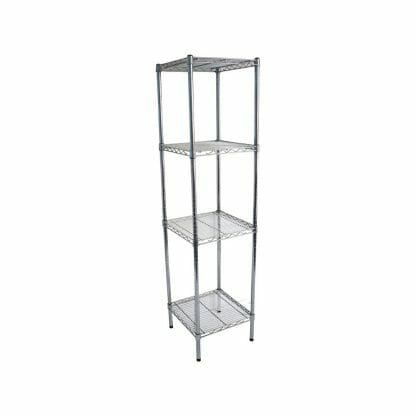 Chrome Wires Shelves for Dry Store, 4 Tier, 457 X 457 deep x 1800mm high-0