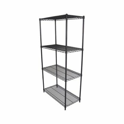 Epoxy Wire Coolroom Shelving 4 Tier, 762 X 457 deep x 1800mm high-0