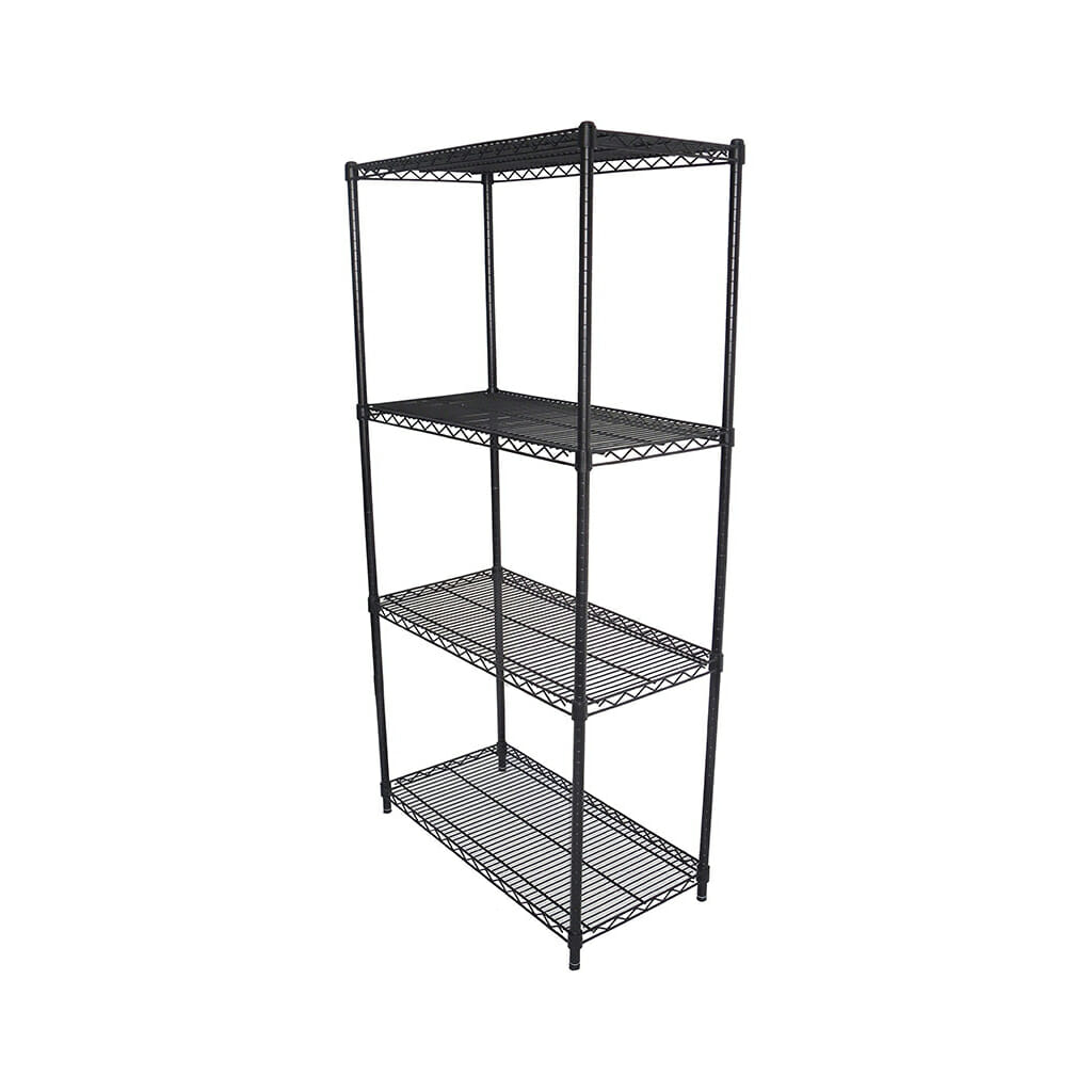 Epoxy Wire Shelving For Coolroom/Dry Store, 4 Tier, 762 X 457 deep x 1800mm high