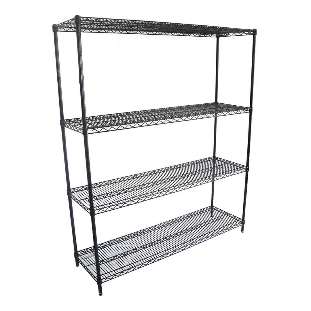 Epoxy Coolroom Shelf 4 Tier, 1524 X 457 deep x 1800mm high-0