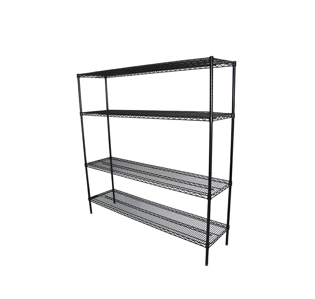 Epoxy Wire Shelving For Coolroom/Dry Store, 4 Tier, 1829 X 457 deep x 1800mm high