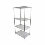 Chrome Dry Store Shelf 4 Tier , 914 X 610 deep x 1800mm high-0