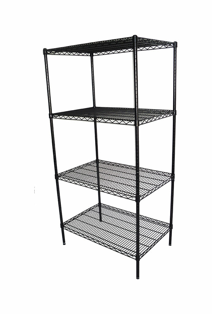 Epoxy Wire Shelving For Coolroom/Dry Store, 4 Tier, 914 X 610 deep x 1800mm high