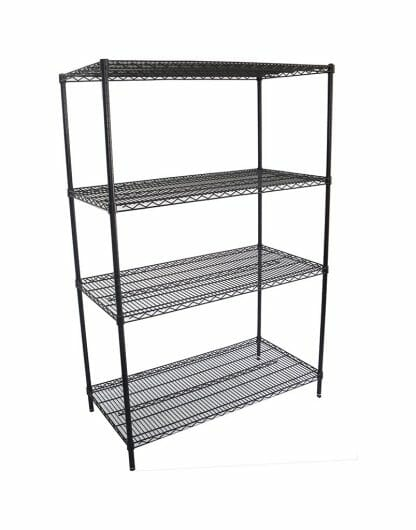 Epoxy Wire Shelving for Coolrooms, 4 Tier, 1219 X 610 deep x 1800mm high-0