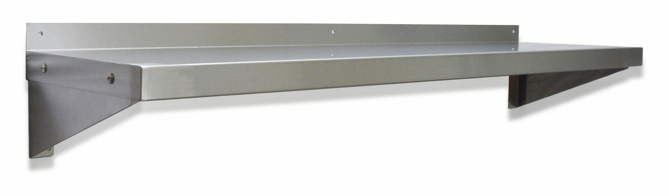 Stainless Steel Wall Shelves, 1200 X 300mm deep.