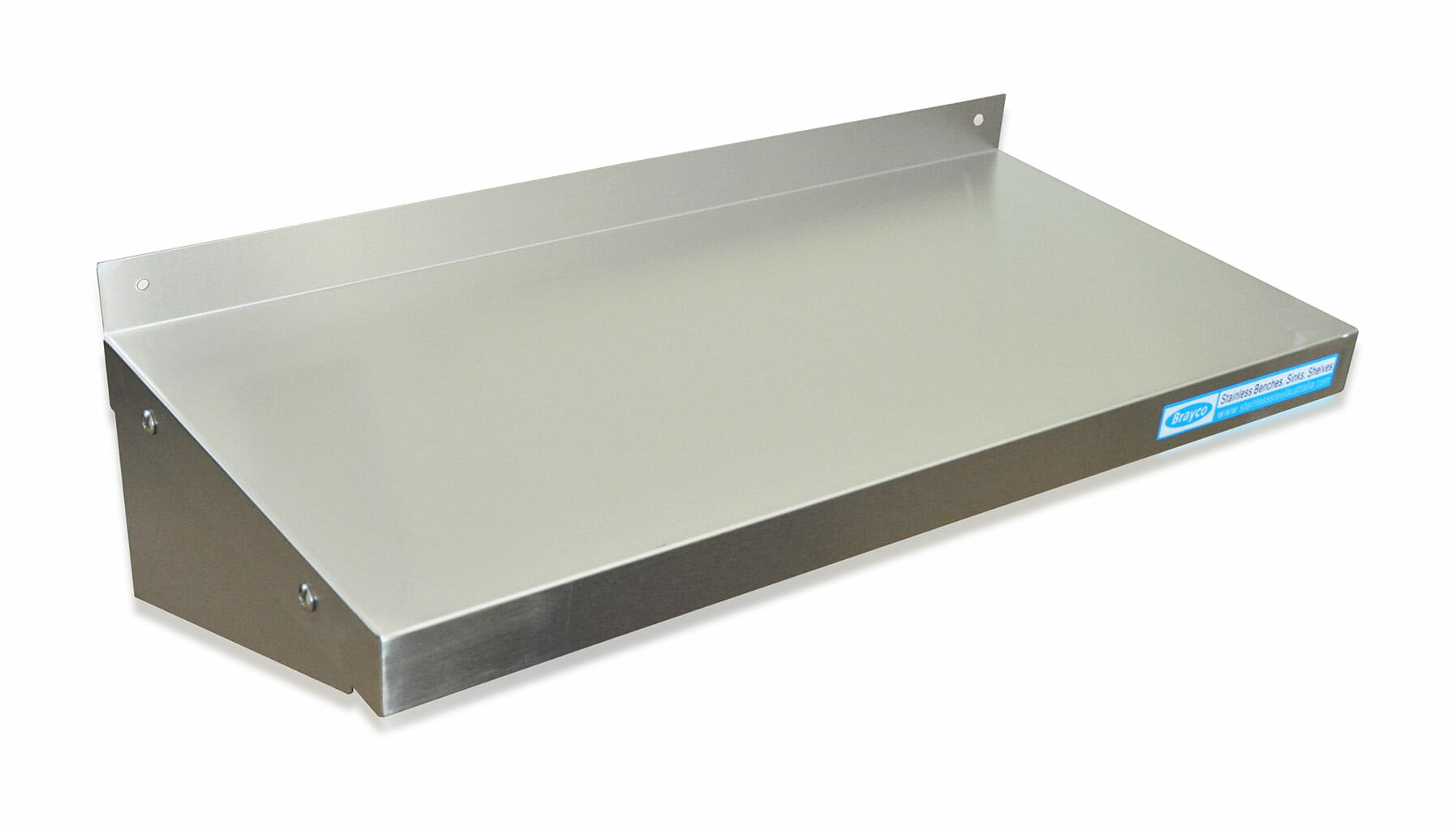 Stainless Commercial Kitchen Shelf, Wall Mounted, 600 X 300mm deep.