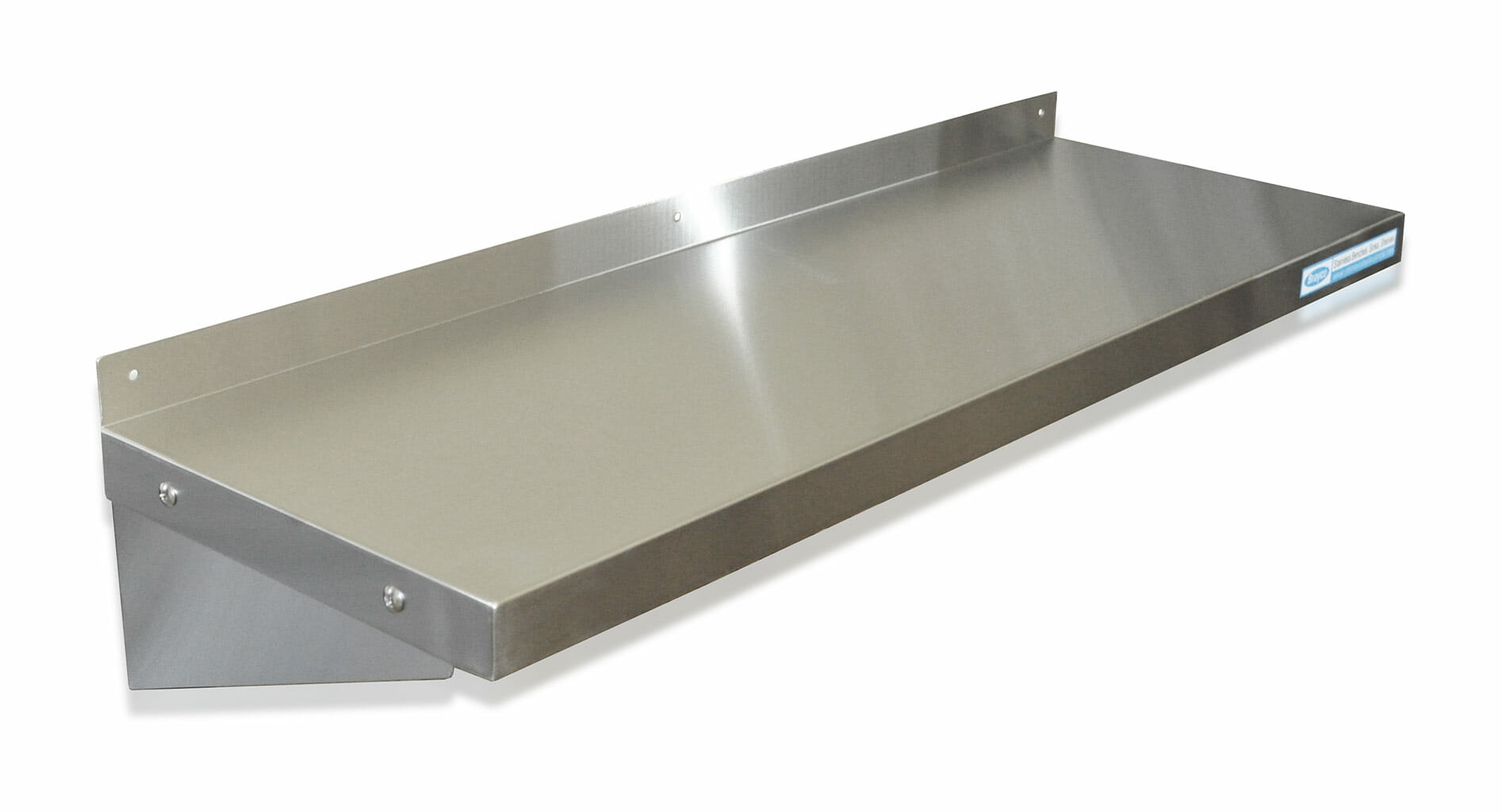 Stainless Steel Solid Wall Shelf, 900 X 300mm deep