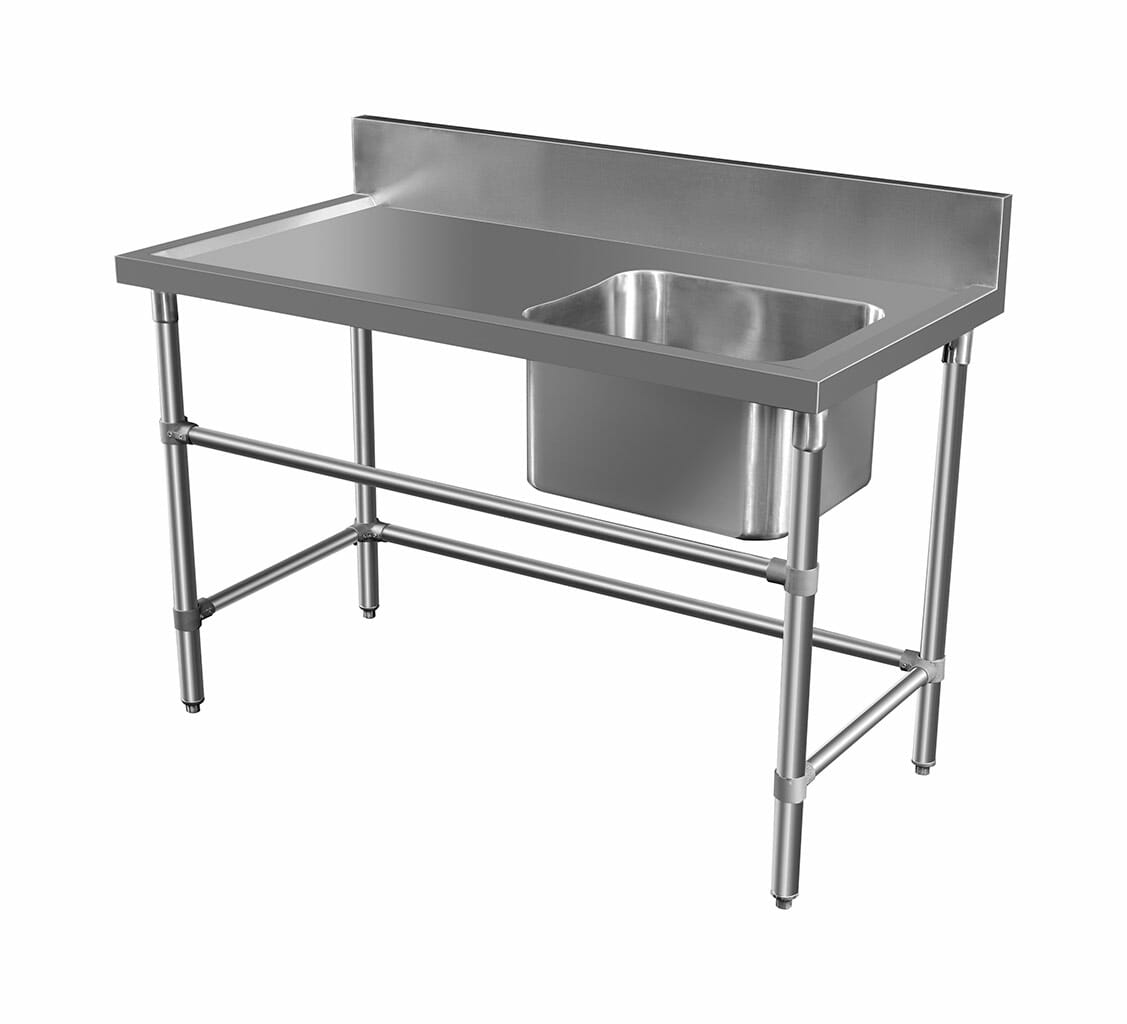 Stainless Sink – Left Bench, 1350 x 700 x 900mm high