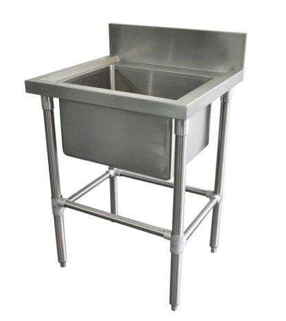 Stainless Catering Sink, 665 x 610 x 900mm high.