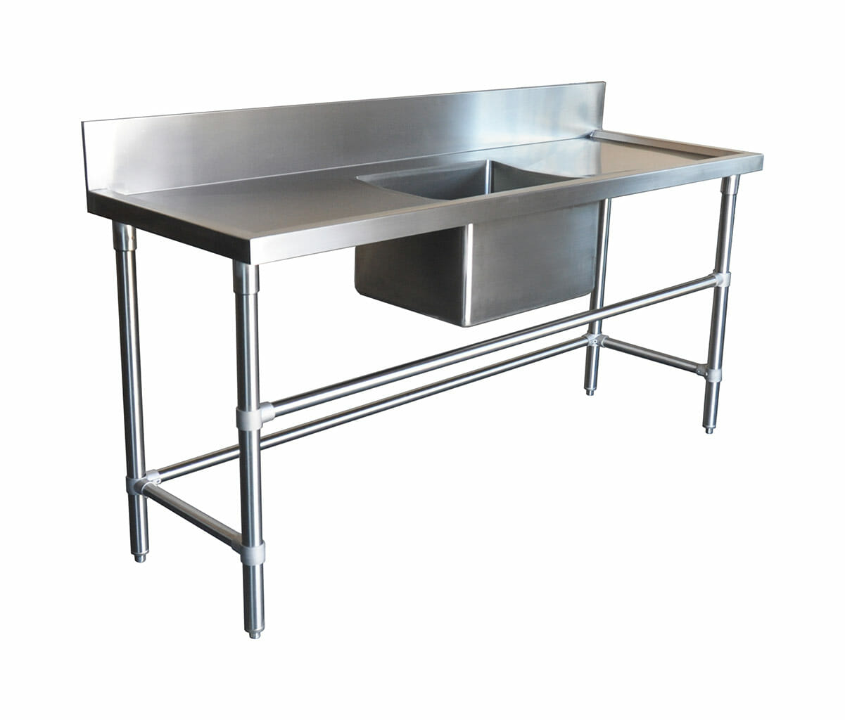 Stainless Steel Catering Sink – Right And Left Bench, 1800 x 610 x 900mm high